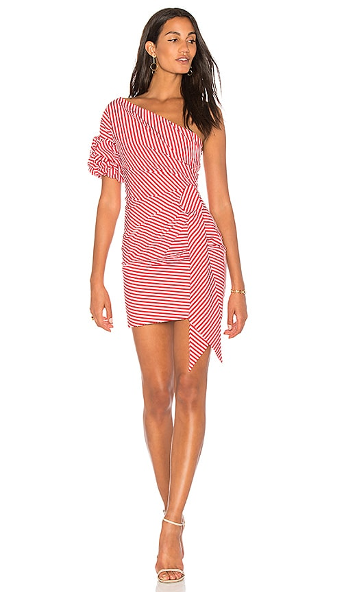 FAME AND PARTNERS x Revolve Stripe Dress in Red