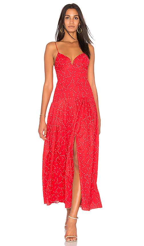 FAME AND PARTNERS x Revolve Maxi Dress in Red