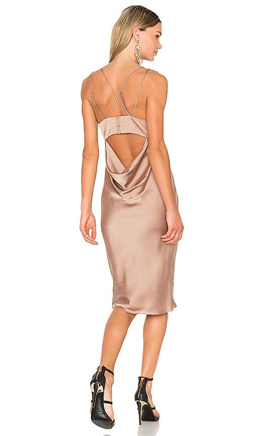 FAME AND PARTNERS X REVOLVE Ziv Midi Dress in Beige