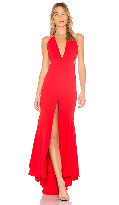 FAME & PARTNERS SURREAL DREAMER CUTOUT GOWN