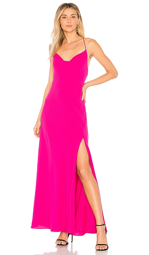 FAME AND PARTNERS The Skai Dress in Fuchsia
