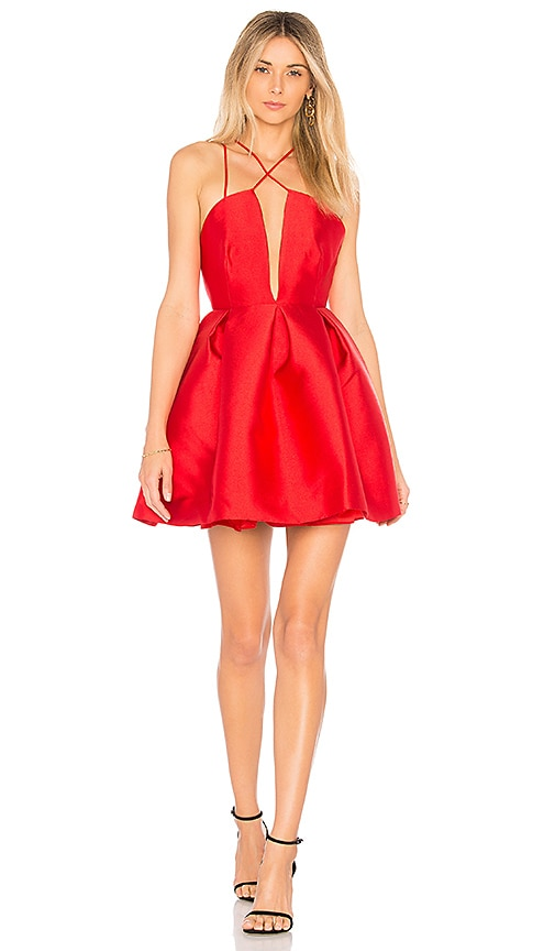 FAME AND PARTNERS The Sienna Dress in Red