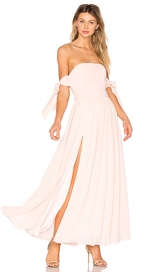 FAME AND PARTNERS X REVOLVE Sandra Maxi Dress in Pale Link in Pink