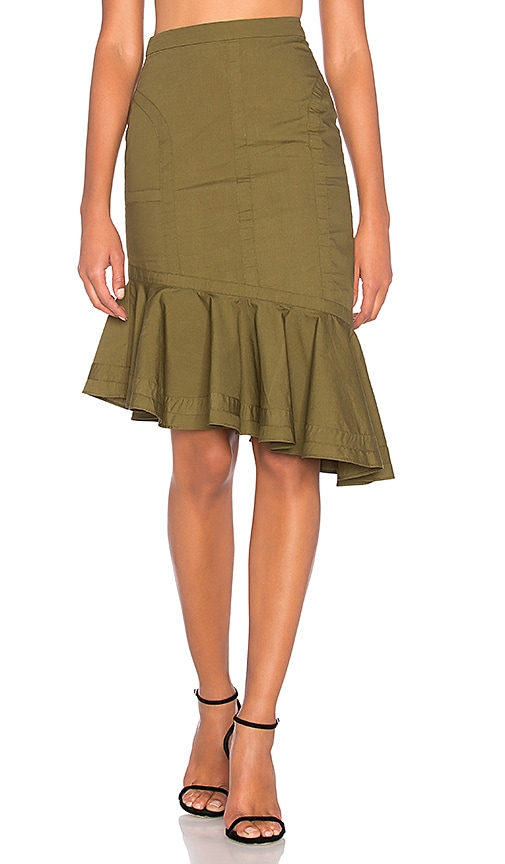 FAME AND PARTNERS The Marley Skirt in Olive