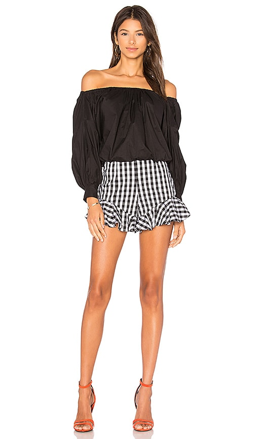 FAME AND PARTNERS x REVOLVE Medine Colorblock Romper in Black