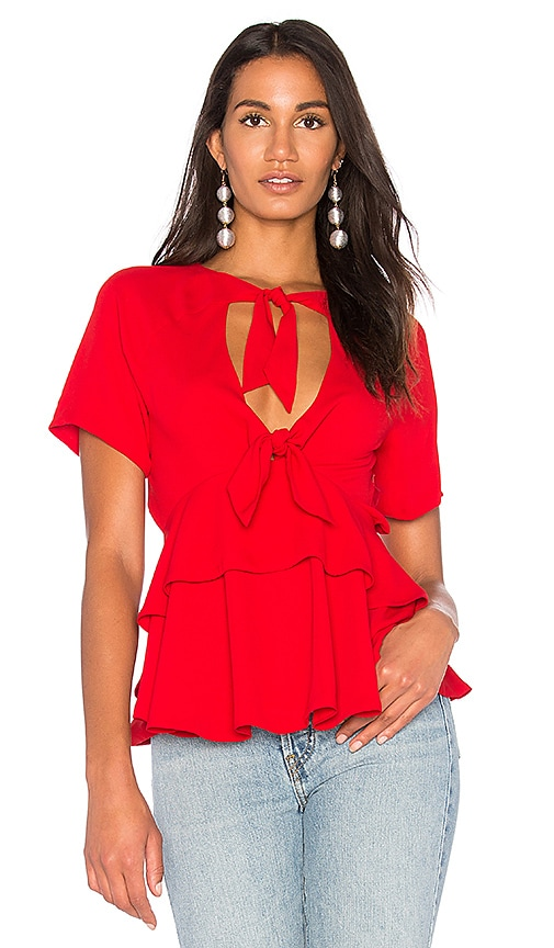 FAME AND PARTNERS The Tomasi Top in Red