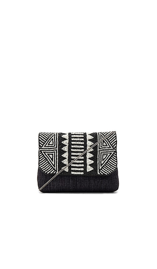 From St Xavier Chakra Clutch in Black & White