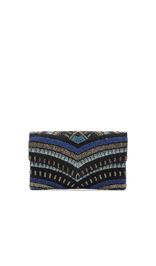 From St Xavier Vaughn Clutch in Black