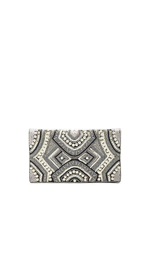 From St Xavier Ziggy Clutch in Metallic Gold