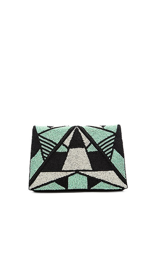 From St Xavier Vera Clutch in Green