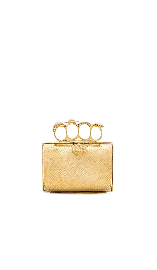 From St Xavier Bella Clutch in Metallic Gold