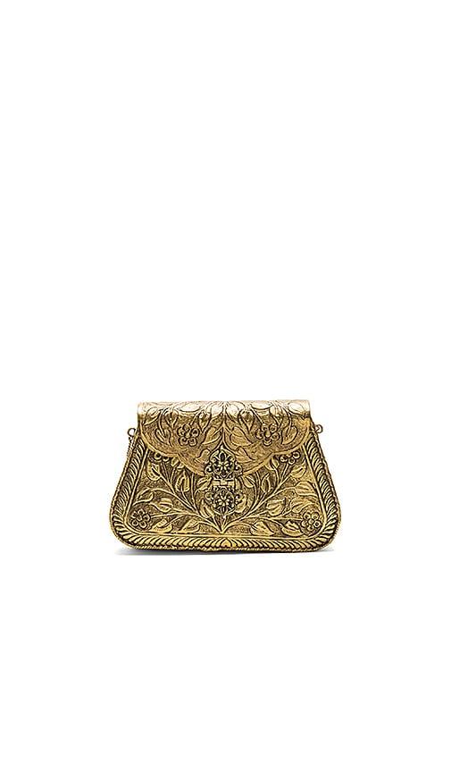From St Xavier Harriet Bag in Metallic Gold