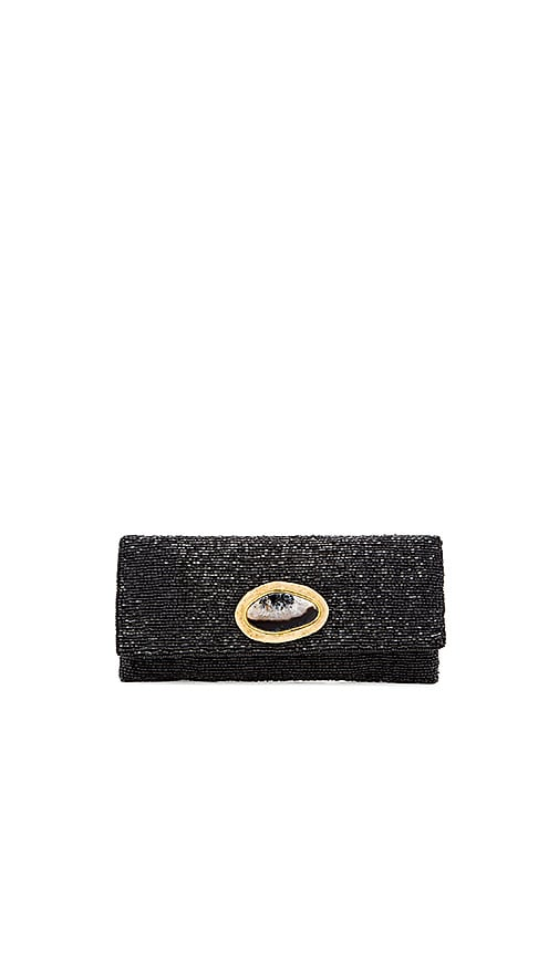 From St Xavier Bronte Clutch in Black