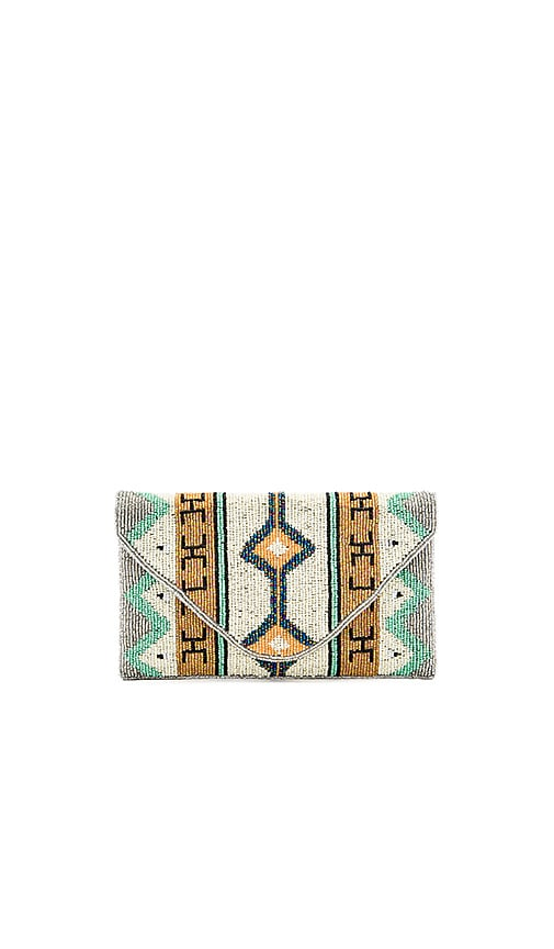 From St Xavier Maya Clutch in Green