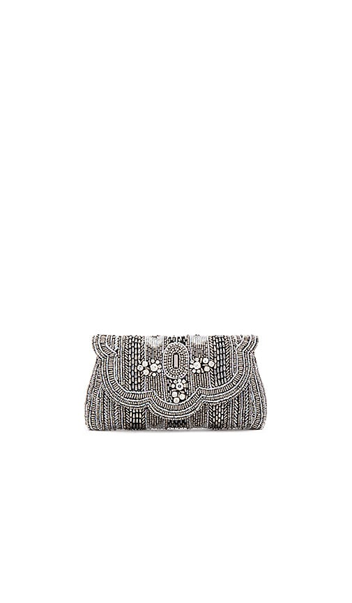 From St Xavier Jocelyn Clutch in Metallic Silver