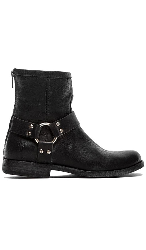 Frye Philip Harness Bootie in Black