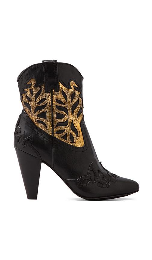 Regina Overlay Heel Bootie