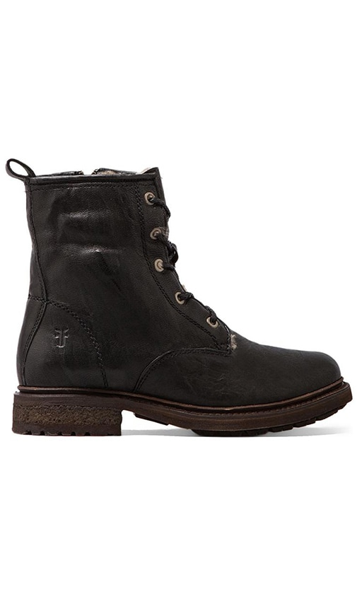 Valerie Lace Up Lamb Shearling Lined Boot