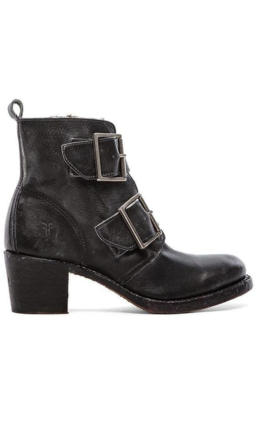 Frye Sabrina Double Buckle Boot in Black
