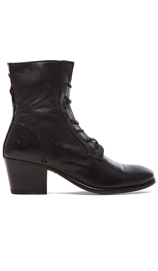 Frye Courtney Lace Up Boot in Black