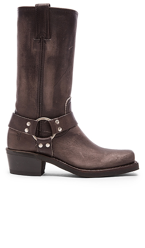 Frye Harness 12R Boot in Charcoal