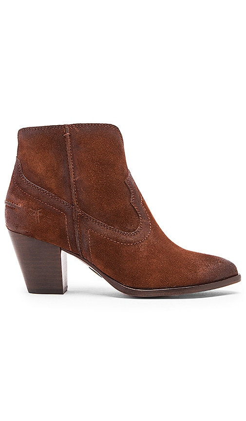 Frye Renee Seam Short Bootie in Brown