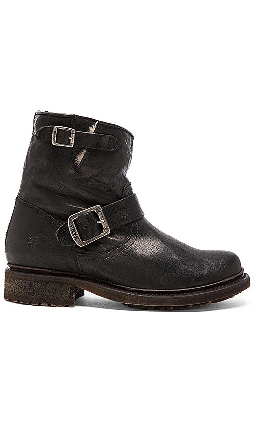 Frye Valerie 6 Boot with Shearling Lining in Black