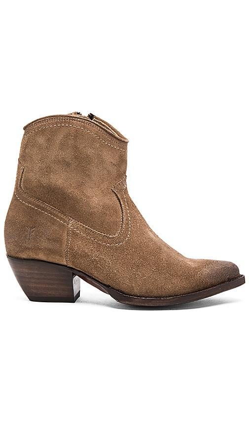 Frye Sacha Short Boot in Brown