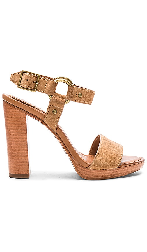 Frye Sara Harness Heel in Tan