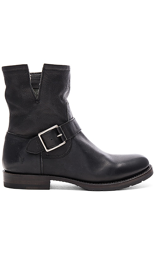 Frye Natalie Short Engineer Boot in Black