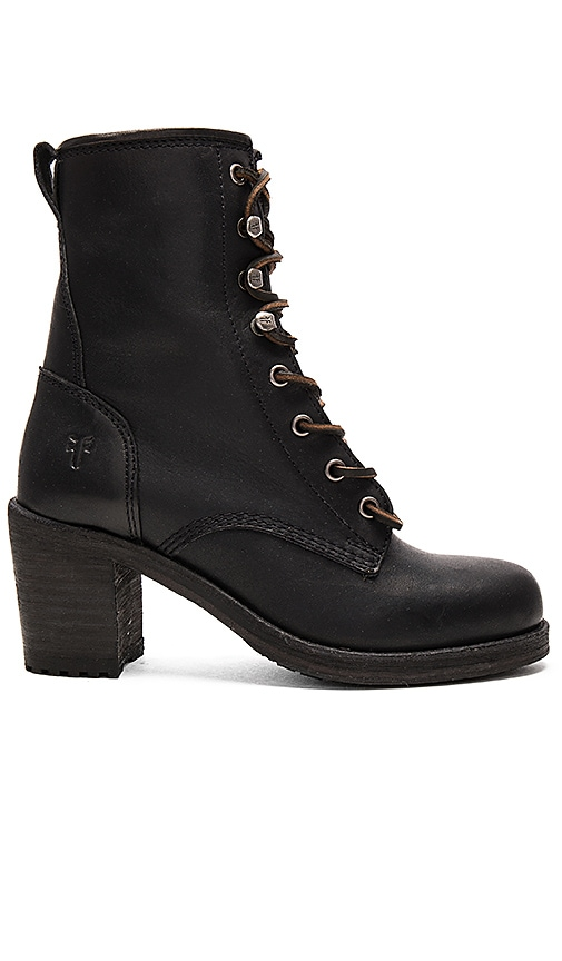 Frye Karen Lace Up Short Boot in Black