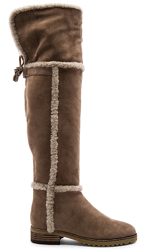 Frye Tamara Shearling Boot in Taupe