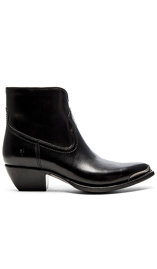 Frye Shane Tip Short Boot in Black