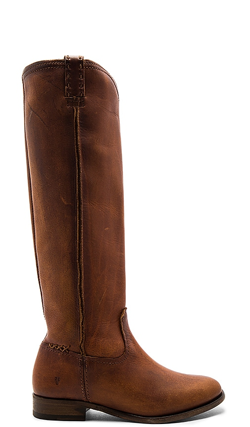 Frye Cara Tall Boot in Cognac