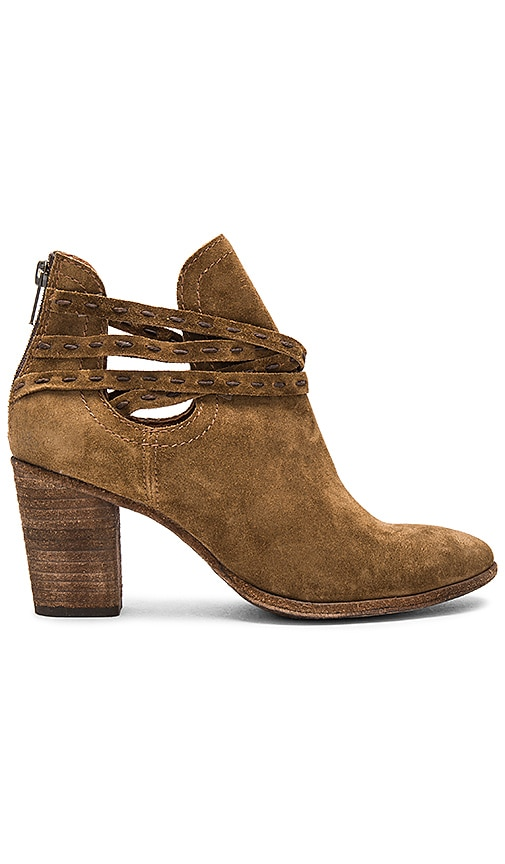 Frye Naomi Pickstitch Bootie in Brown