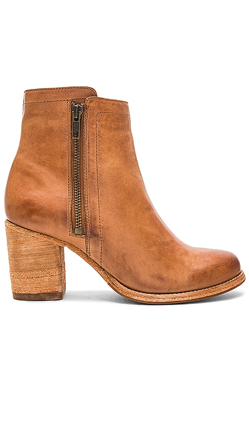 Frye Addie Double Zip Bootie in Cognac