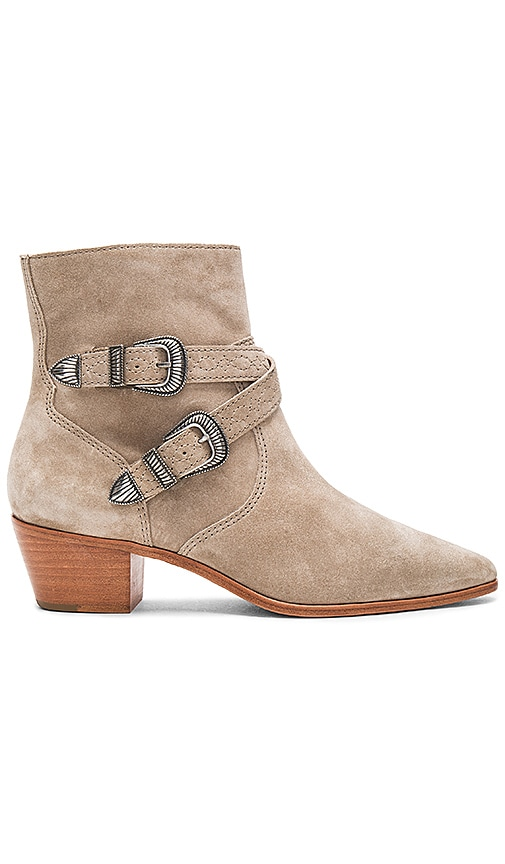 Frye Ellen Buckle Short Bootie in Gray