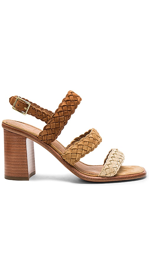 Frye Amy Braid Sandal in Tan
