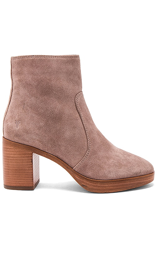 Frye Joan Campus Bootie in Rose