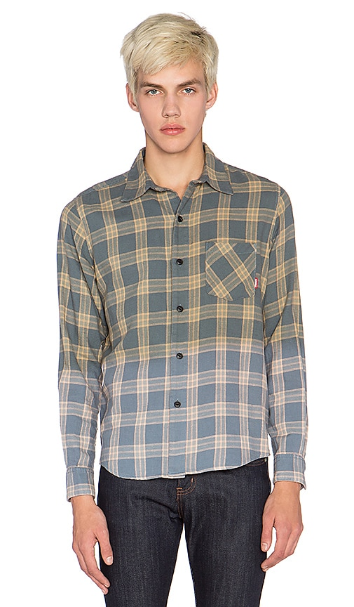 Fuct Faded Flannel Shirt in Blue
