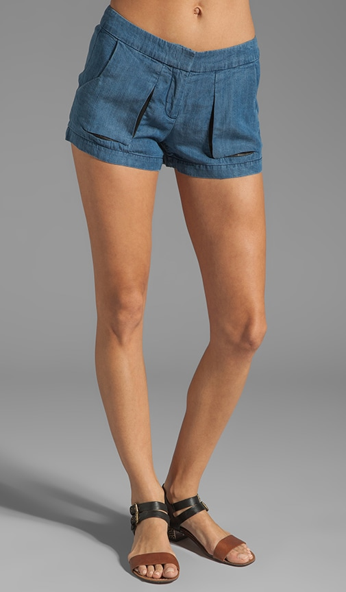Offset Slit Pocket Shorts