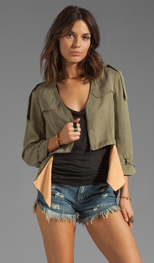 Cropped Detachable Jacket