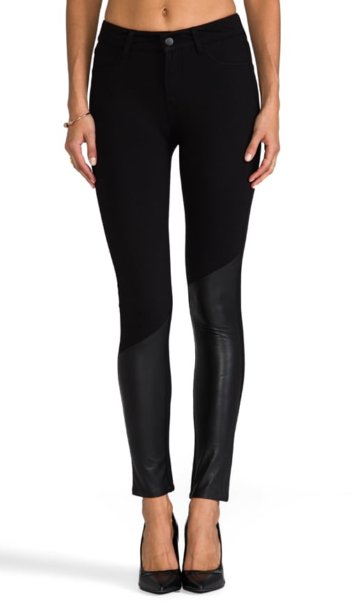 Atomic Leather Panel Skinny Pant