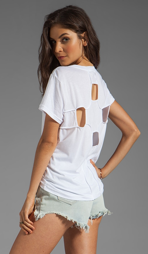 Geometric Cut Out Back Tee
