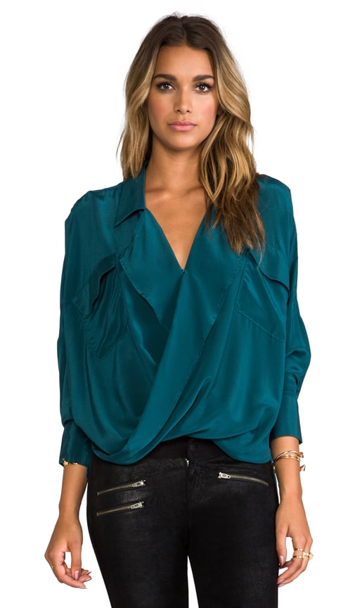 Solar Fold Front Blouse