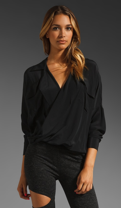 Silk-Fold Front Top