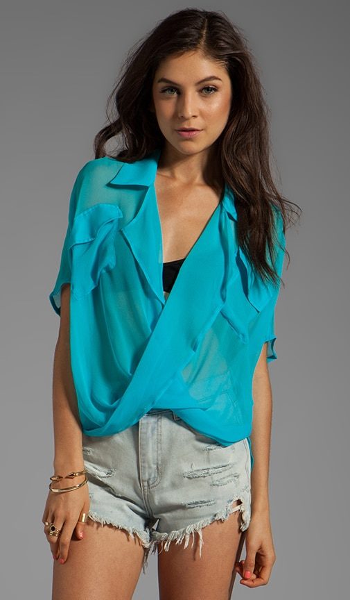 Micro Short Sleeve Fold Front