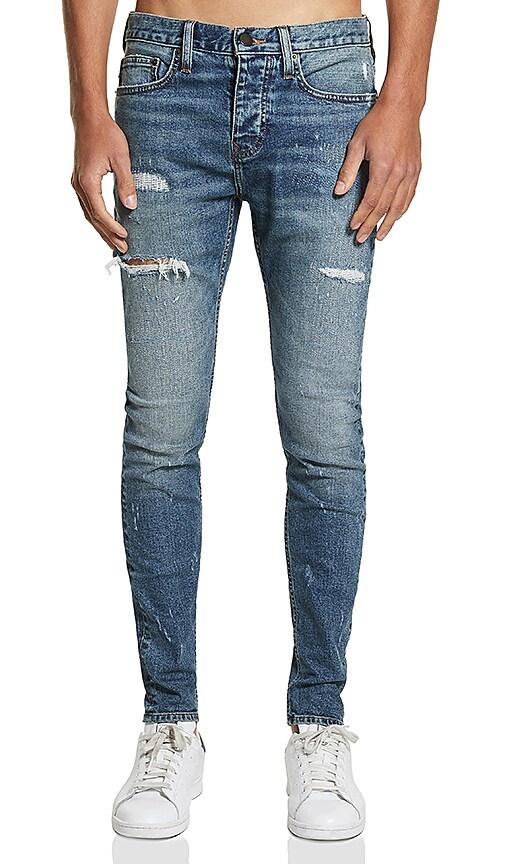 Five Four FVFR Warner Skinny Jean in Blue