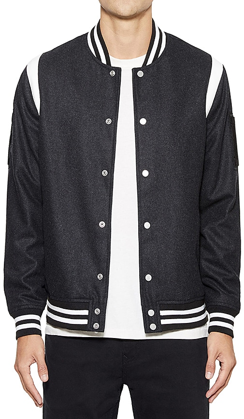 Five Four Brophy Varsity Jacket in Black