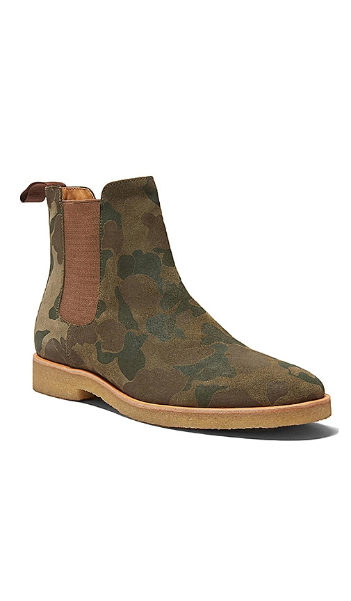 New Republic by Mark McNairy Houston Chelsea Boot in Army